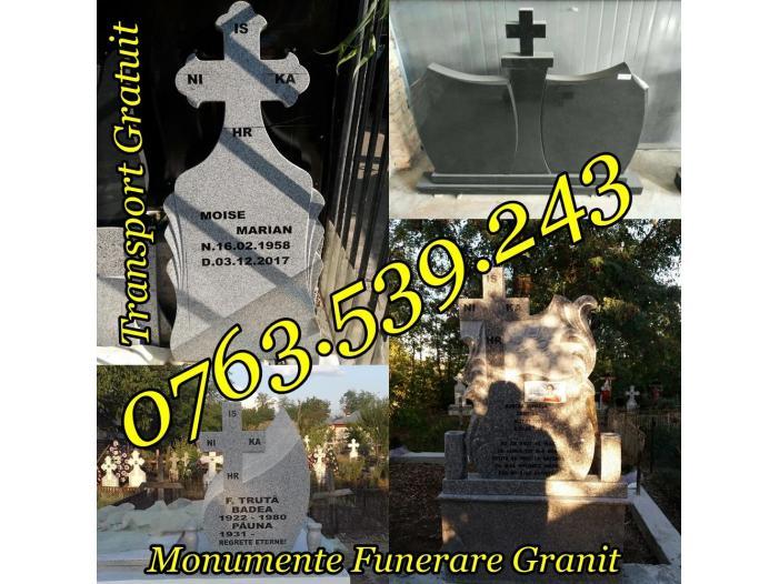 Executam Cruci De Granit Pietre Funerare Marmura Granit - 4/5