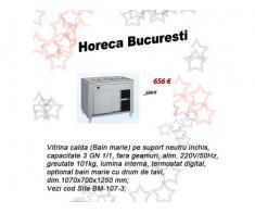 Vitrina calda (Bain marie)  3GN1/1pe suport fara geamuri