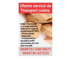 Transport colete, pachete Germania -Austria -Romania de la adresa la adresa