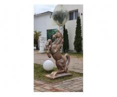 Cal din beton, ornament beton tip cal // ornament gradina - Poza 3/3