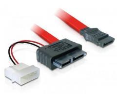 Cablu SATA Slimline mama + SATA power 2pin - 84390