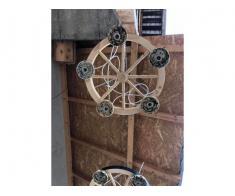 Produc lustre rustice din lemn - Poza 4/5