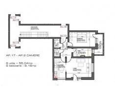 apartament 2 camere, decomandat, 55 mp